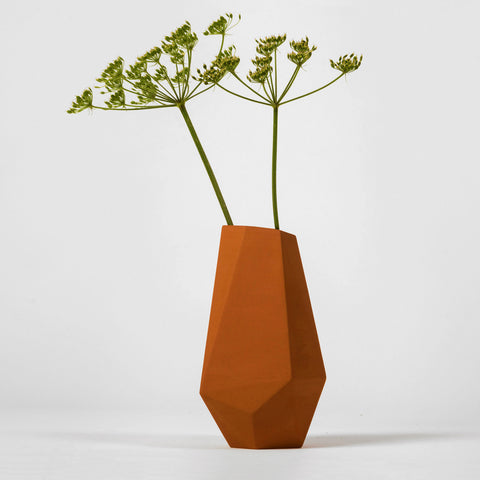 Geometric Unglazed Vase