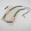 Green Tube/Plain Zigzag Necklace
