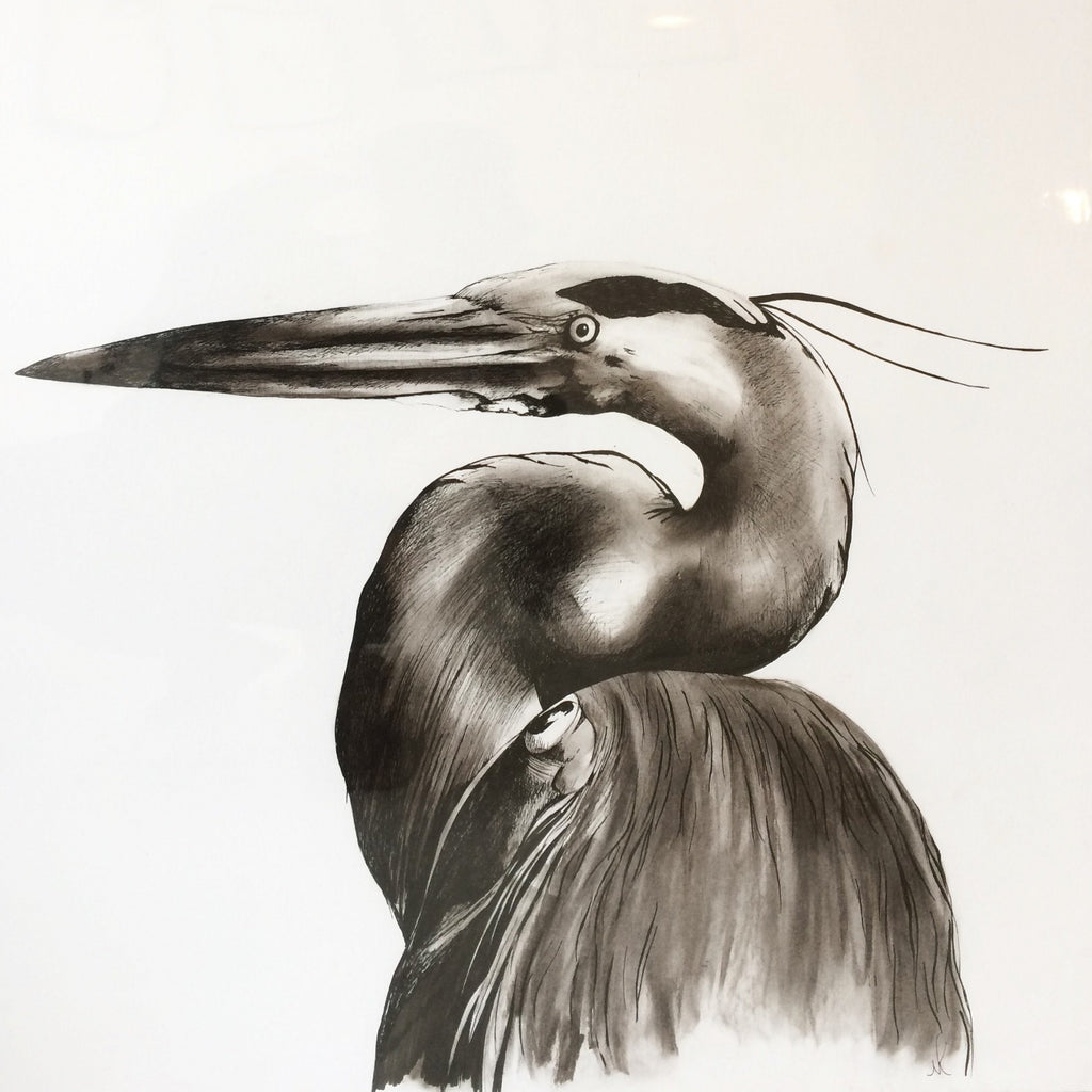Large Unframed Heron