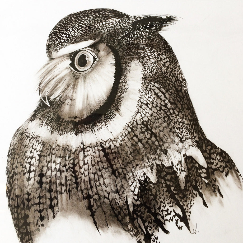 Large Unframed Owl