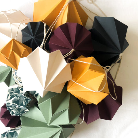 Origami Paper Baubles
