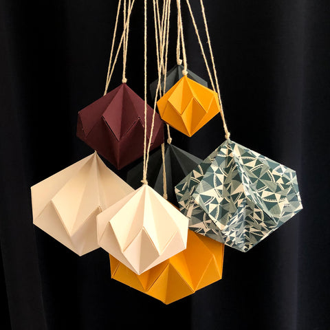 Origami Paper Bauble Set of three