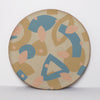 INLAY Plate / Ochre, Teal, Peach