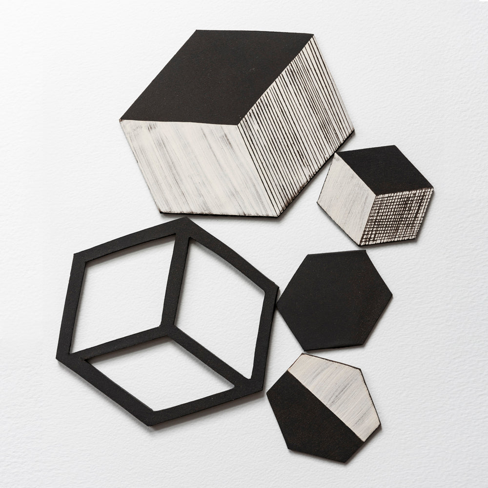 Irregular Hexagon Tiles Large Cutout