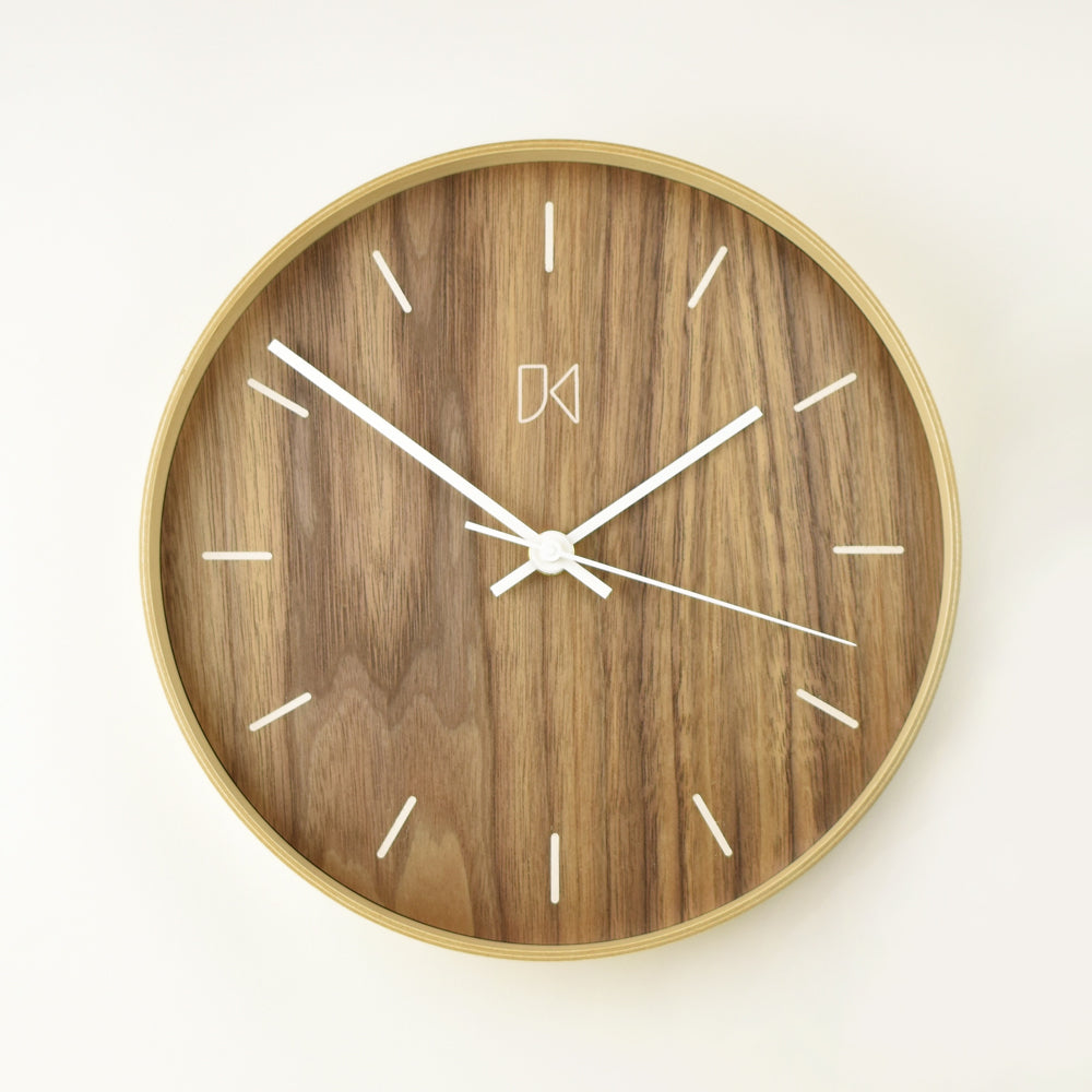 JK9 Wall Clock Walnut