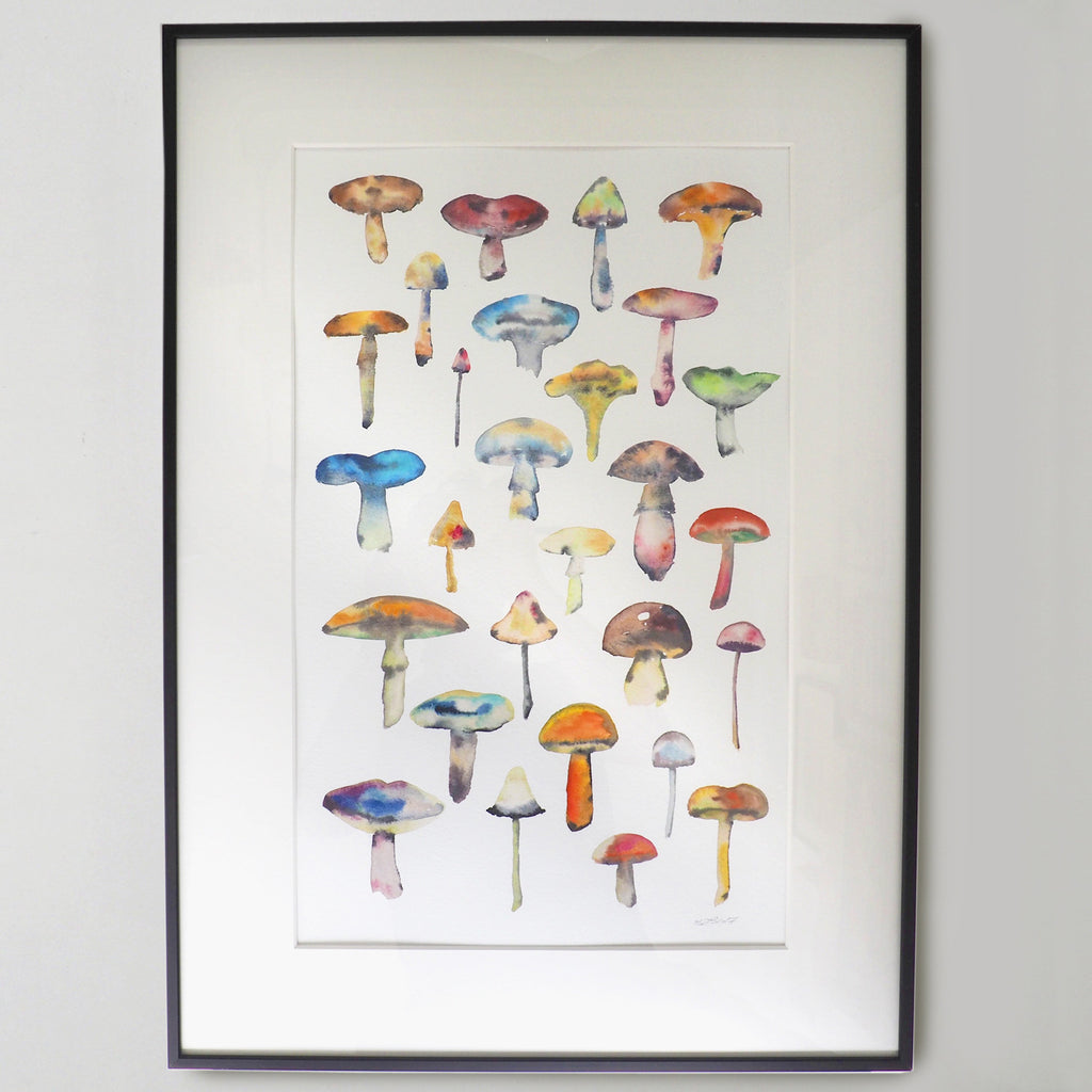 Mushrooms Watercolour