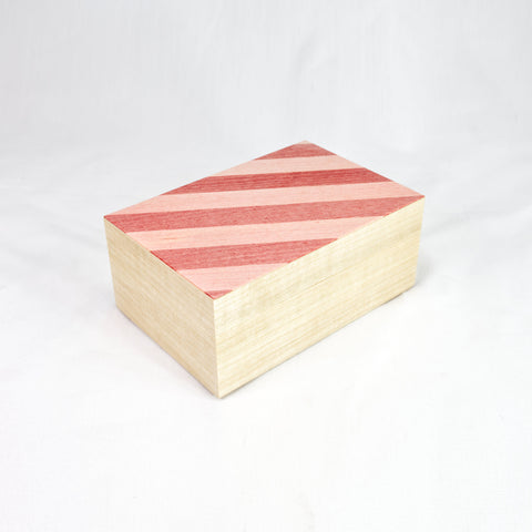 Pink Stripe Tray Box