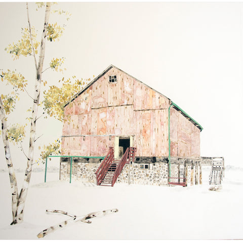 Pink & Green Farm with Birch