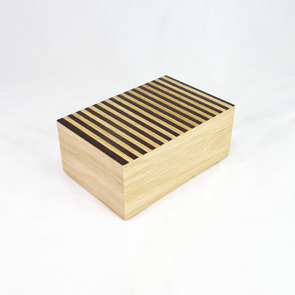 Pinstripe Tray Box Oak