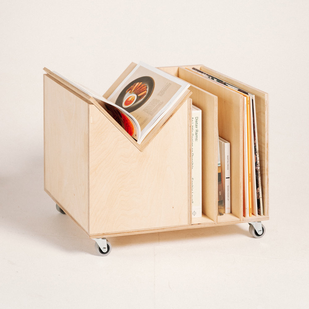 A Dolly Full of Records to See (plywood)