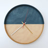Plywood Clock Navy and Yellow 9 - 3