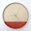 Plywood Clock Red and Grey 4-8