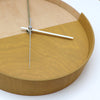 Plywood Clock Yellow 3-9