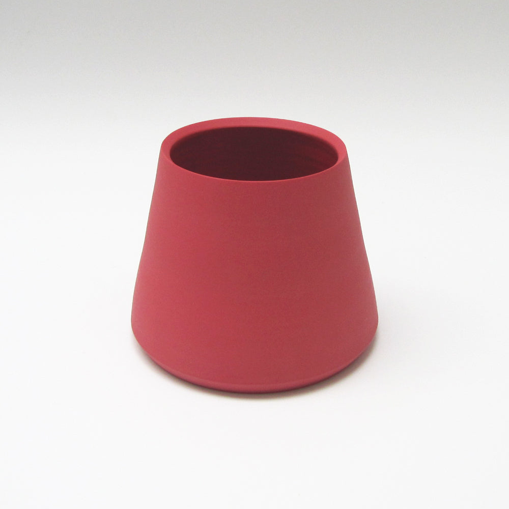 Amaranth Red Tapered Porcelain Vessel