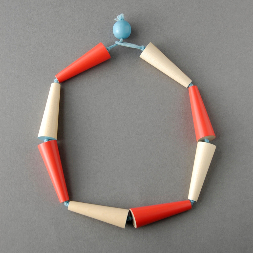 Red/Plain Funnel Necklace