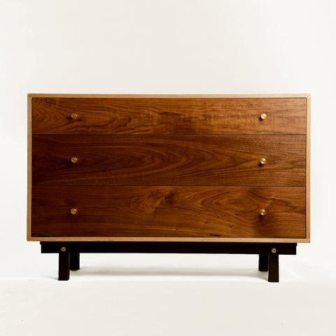 SB4 Birch Plywood and Walnut Chest of Drawers