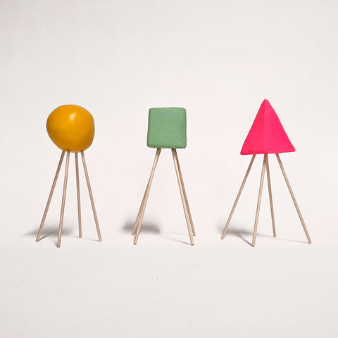 Square, Circle, Triangle (Green, Yellow, Pink)