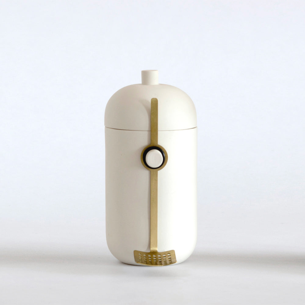 Now & Then Storage Jar White