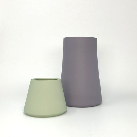 Purple Tapered Porcelain Vase