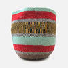 Woven Basket - Mint / Red / Yellow