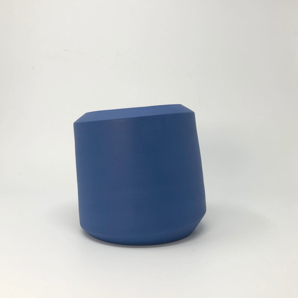 Klein Blue Tilted Porcelain Vessel
