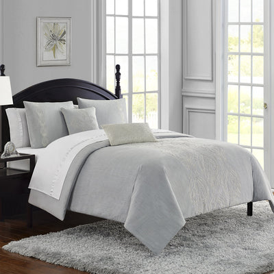 Dorothy Chambray Blue 3-Piece Comforter Set [Luxury comforter Sets] [by Latest Bedding]