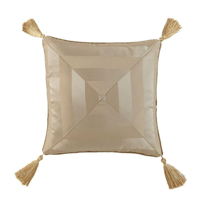 "Anya Pale Gold Dec Pillow 18"" x 18"" by Waterford"