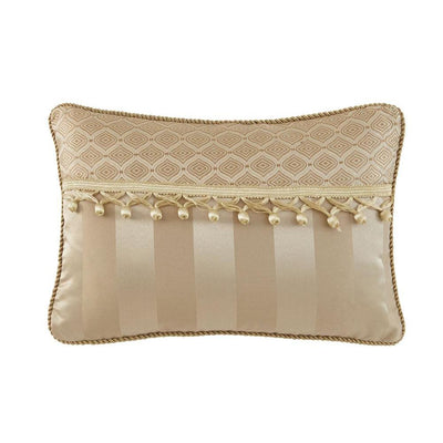 "Anya Pale Gold Dec Pillow 18"" x 12"" [Luxury comforter Sets] [by Latest Bedding]"