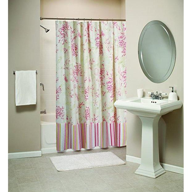 Shower Curtain Coral Red Bath Shower Curtain Latest Bedding