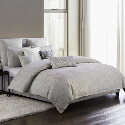 Adelais Grey 3-Piece Comforter Set Comforter Sets By Waterford