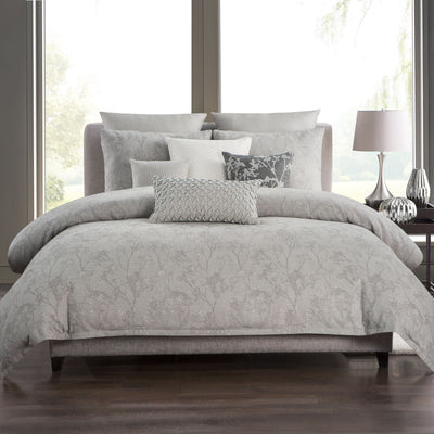 Adelais Grey 3-Piece Duvet Set [Luxury comforter Sets] [by Latest Bedding]