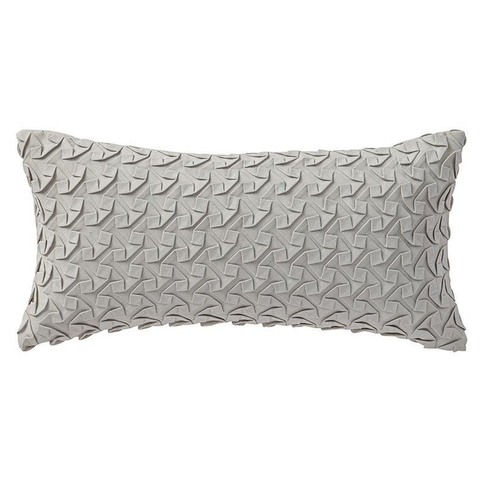 "Adelais Grey Decorative Pillow 22"" x 11"""