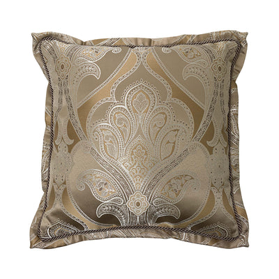 "Alexander Tan Square Decorative Throw Pillow 20"" x 20"" Throw Pillows By Croscill Home LLC"