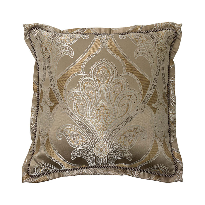 "Alexander Tan Square Decorative Throw Pillow 20"" x 20"""