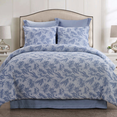 Almaria Soft Blue 3-Piece Comforter Set [Luxury comforter Sets] [by Latest Bedding]