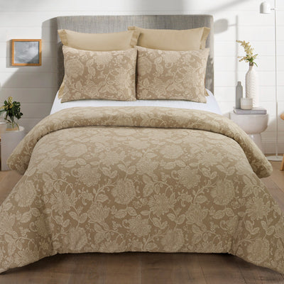 Amadora Cappuccino 3-Piece Comforter Set Comforter Sets By Donna Sharp