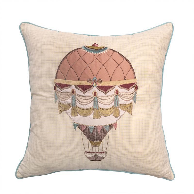 American Beauty Balloon Embroidered Decorative Pillow [Luxury comforter Sets] [by Latest Bedding]