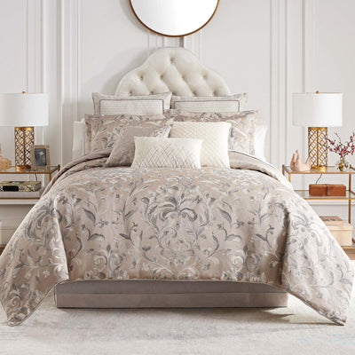 Andria Taupe 4-Piece Reversible Comforter Set Comforter Sets By Waterford