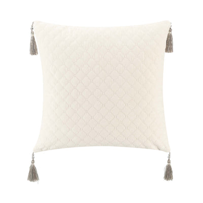 "Andria Taupe Decorative Throw Pillow 18"" x 18"" [Luxury comforter Sets] [by Latest Bedding]"