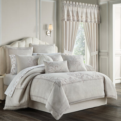 Angeline Beige 4-Piece Comforter Set [Luxury comforter Sets] [by Latest Bedding]