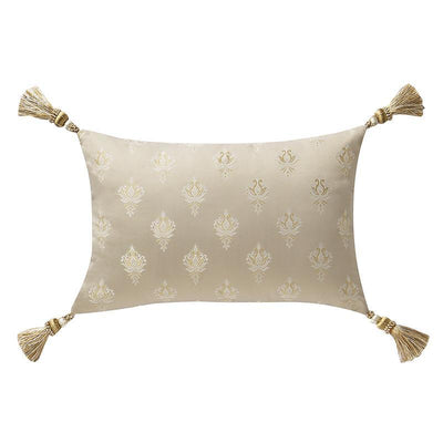 "Annalise Gold Breakfast Pillow 18"" x 12"" Throw Pillows By Waterford"
