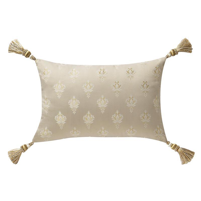 "Pillows Annalise Gold Breakfast Pillow 12"" x 18"" Latest Bedding"