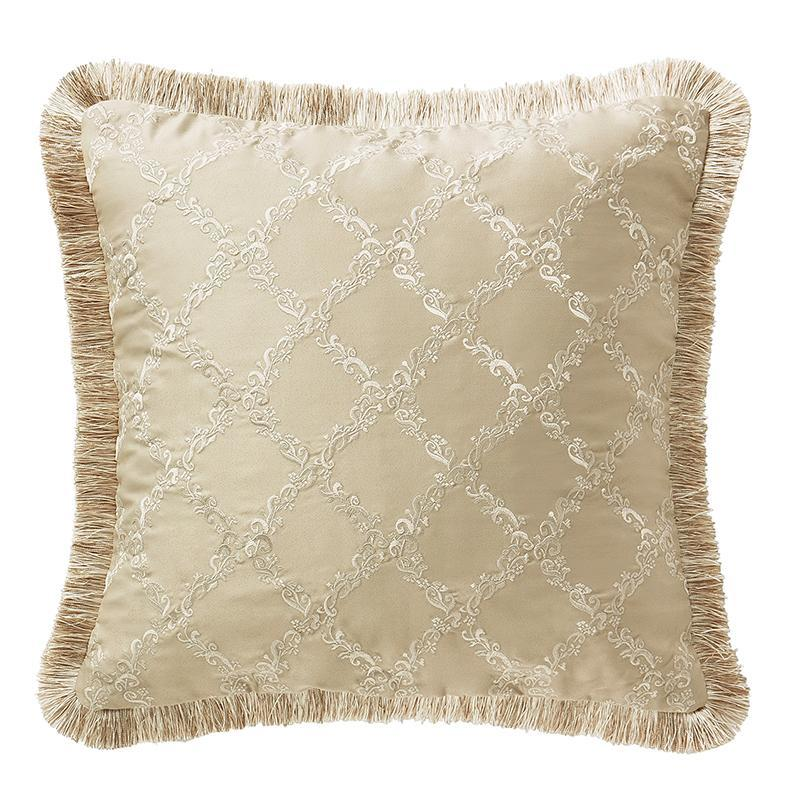 "Pillows Annalise Gold Square Decorative Pillow 18"" x 18"" Latest Bedding"