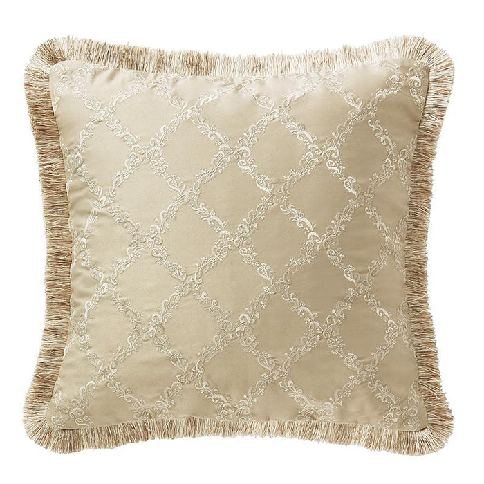 "Annalise Gold Square Decorative Pillow 18"" x 18"""