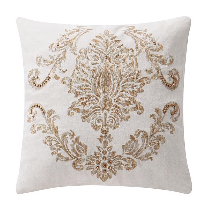"Annalise Gold Square Decorative Pillow 16"" x 16"" by Waterford [Luxury comforter Sets] [by Latest Bedding]"