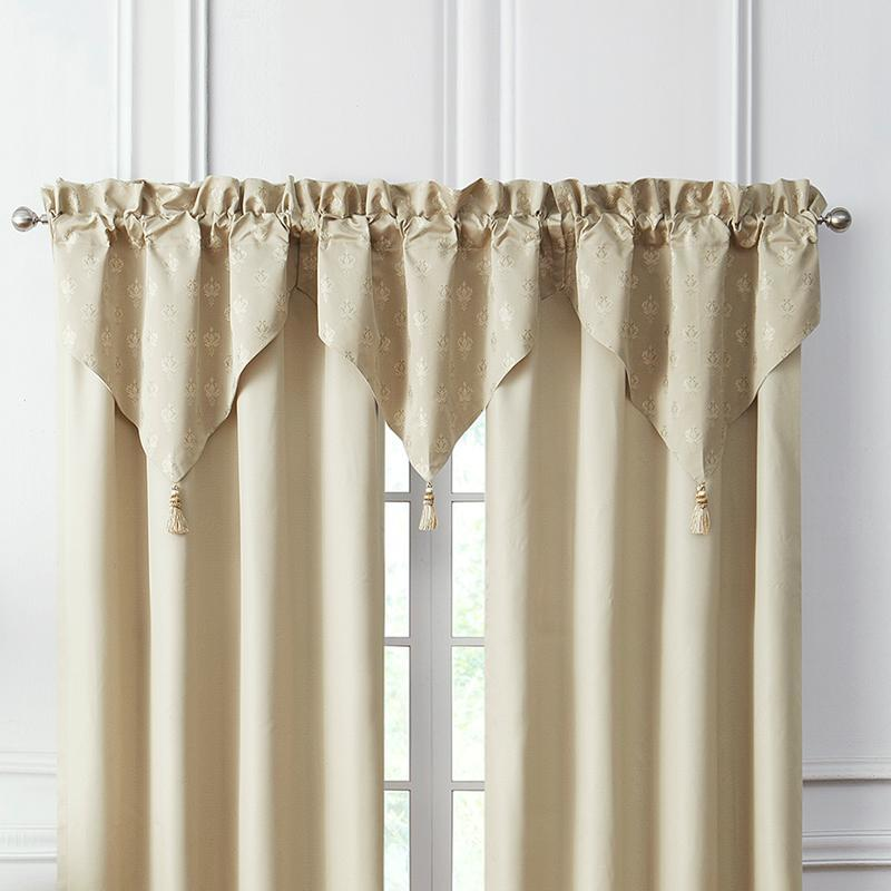 Window Valance Annalise Gold Ascot Valance Latest Bedding