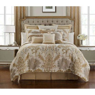 Ansonia Ivory 4-Piece Reversible Comforter Set Comforter Sets By Waterford