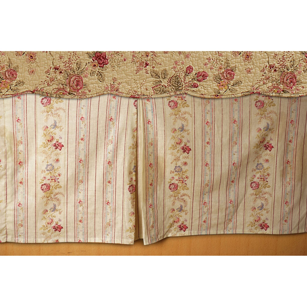 Antique Rose Bed Skirt