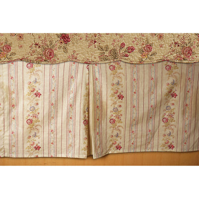 "Antique Rose Multi Bed Skirt 15"" [Luxury comforter Sets] [by Latest Bedding]"