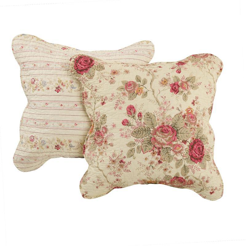 Antique Rose Multi Decorative Pillow Pair [Luxury comforter Sets] [by Latest Bedding]